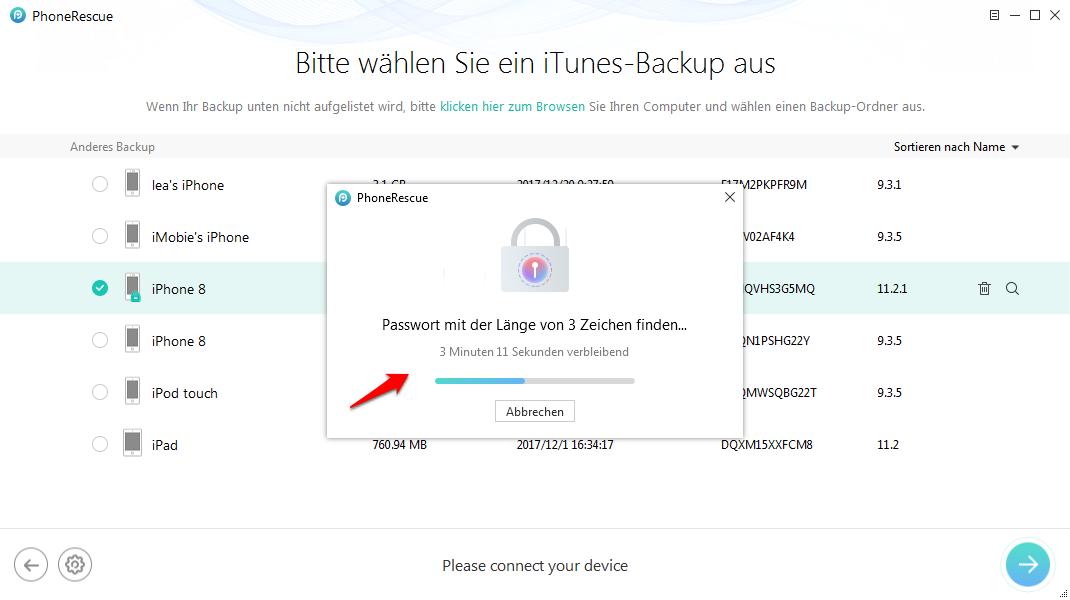 iTuns Backup Passwort vergessen – so beheben