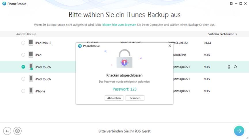 So sichern Sie Ihr ipad auf iTunes
