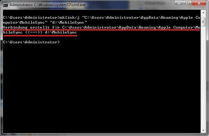 iTunes Backup Speicherort frei ändern