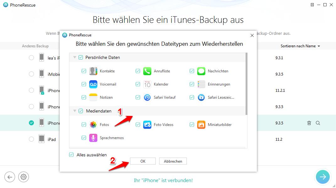 iTunes Backup wiederherstellen funktioniert nicht – So können Sie tun