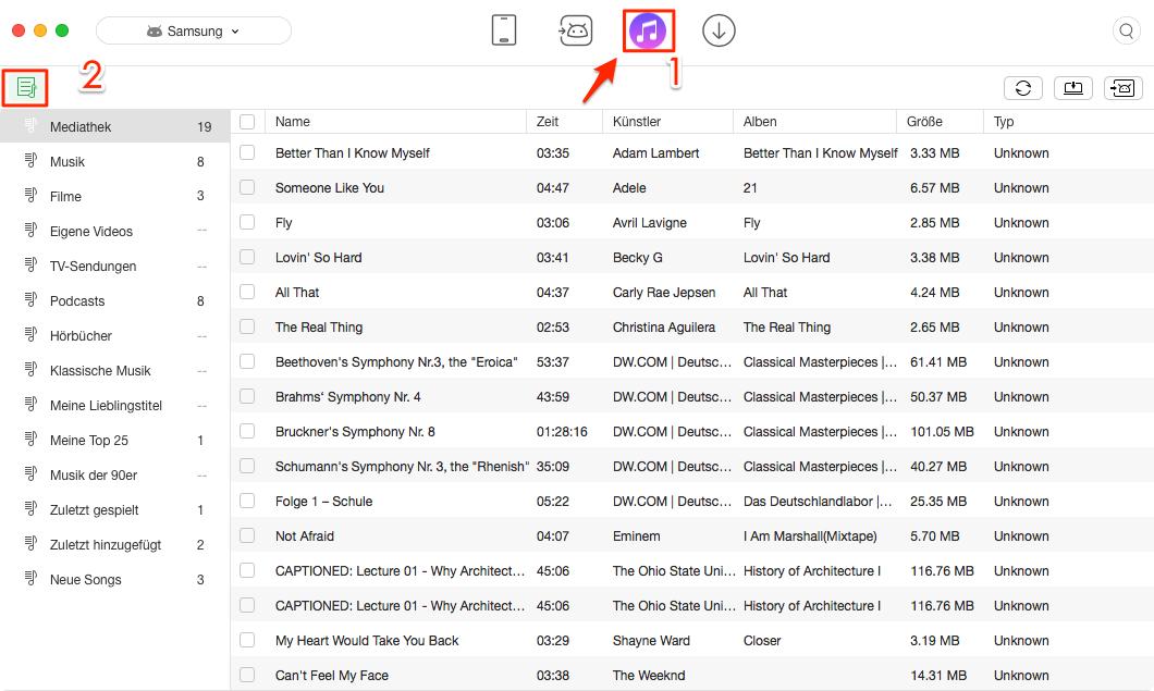 Filme von iTunes auf Android übertragen – iTunes Mediathek finden