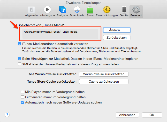 iTunes Mediathek löschen