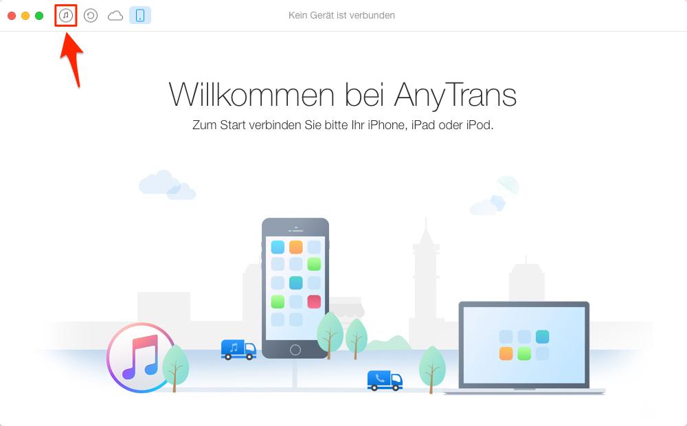 iTunes Mediathek übertragen – Schritt 1