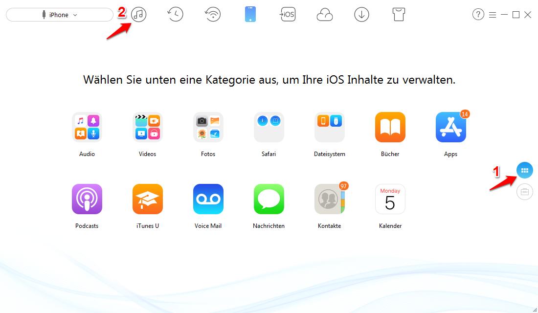 iTunes Mediathek sicher & einfach verschieben – Schritt 1