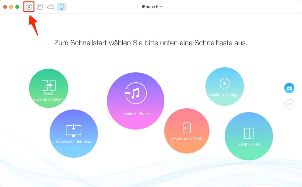 iTunes Musik auf Android mit AnyTrans – Schritt 1
