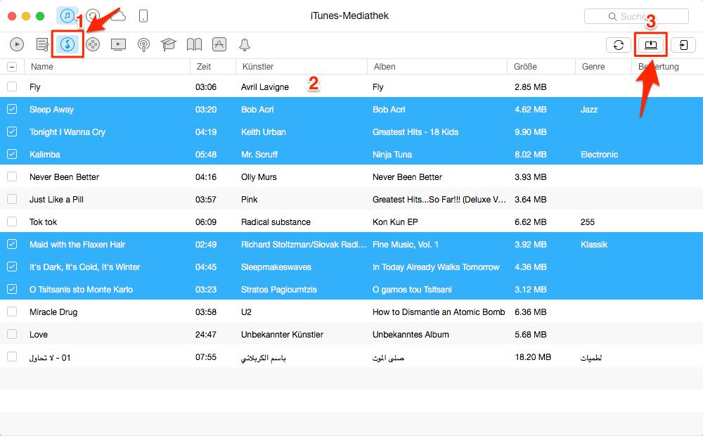iTunes Musik auf Android – Schritt 2