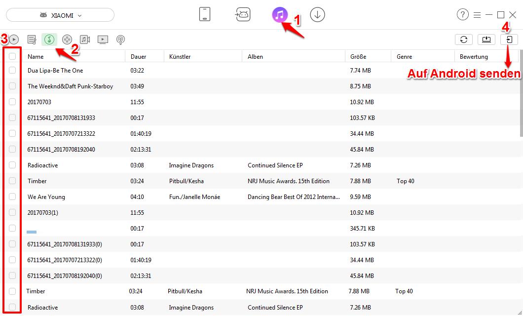 iTunes Musik auf Android mit AnyTrans übertragen – Schritt 2