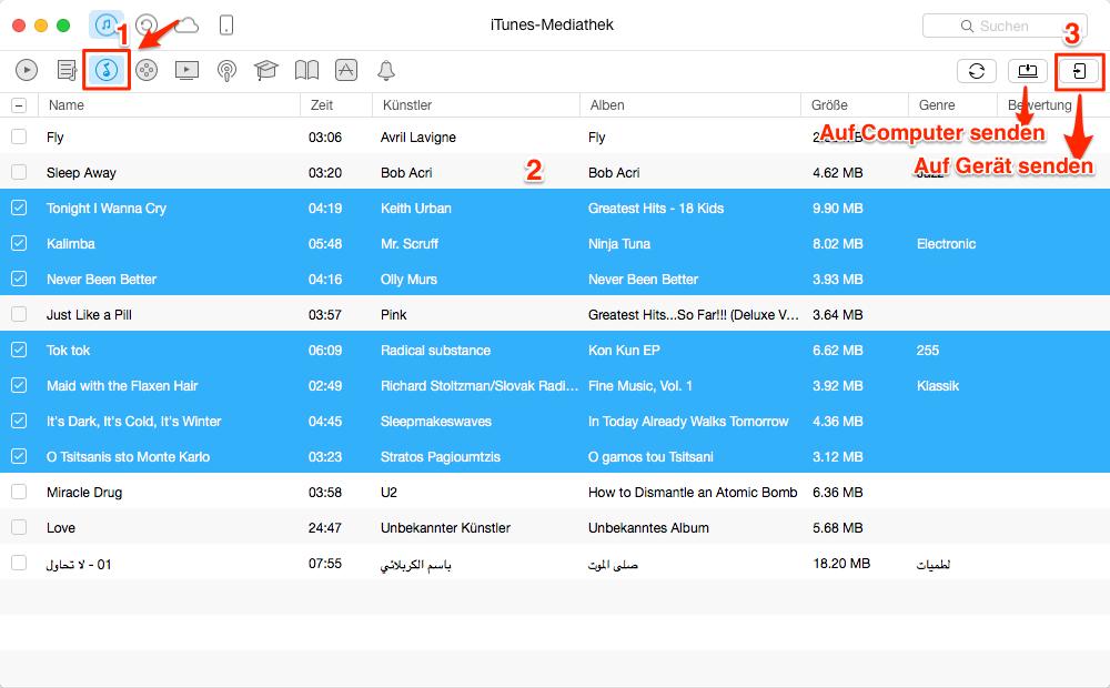 iTunes Musik exportieren – Schritt 2