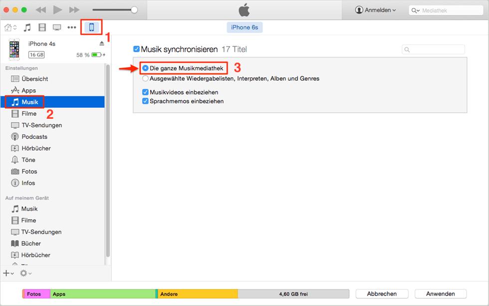 iTunes - Option überprüfen