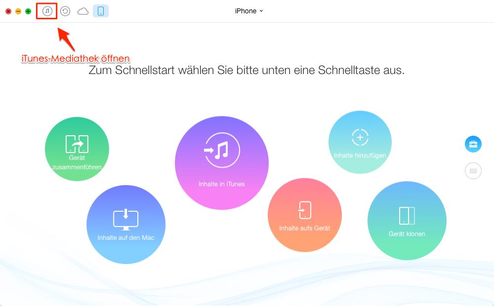 Öffnen Sie die Seite von iTunes-Bibliothek - Schritt 1