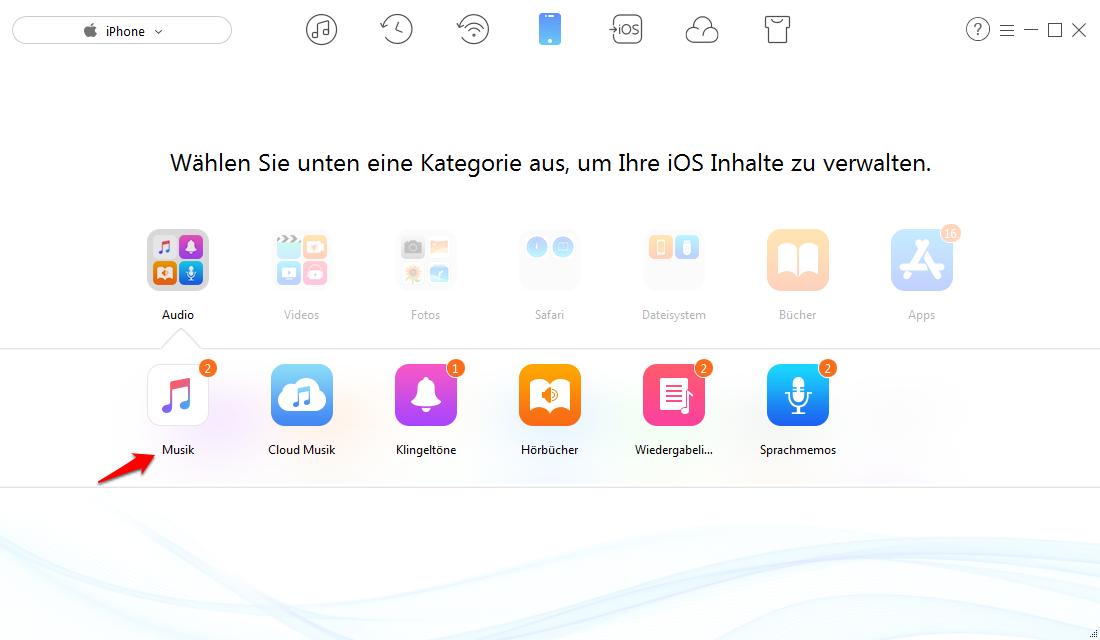 iTunes-Update Fehler – Muisk ohne iTunes übertragen