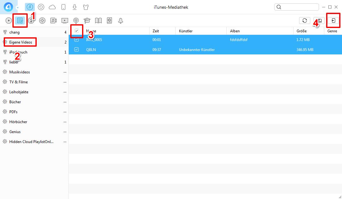 iTunes Wiedergabeliste auf iPod übertragen – Schritt 2