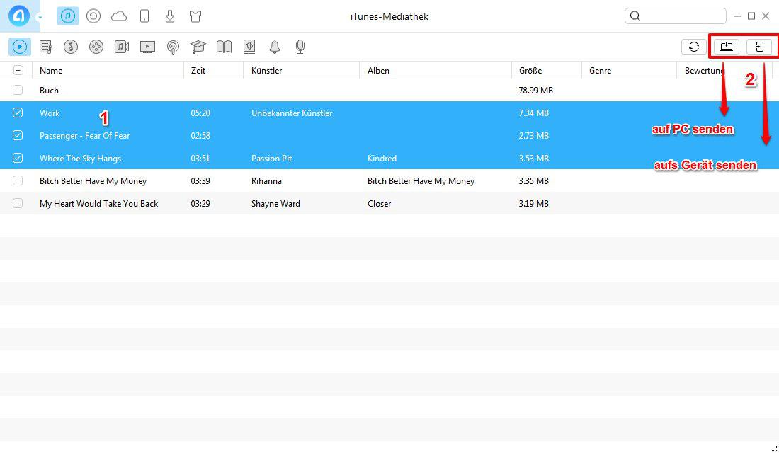 iTunes zeigt iPhone nicht an: AnyTrans verwenden