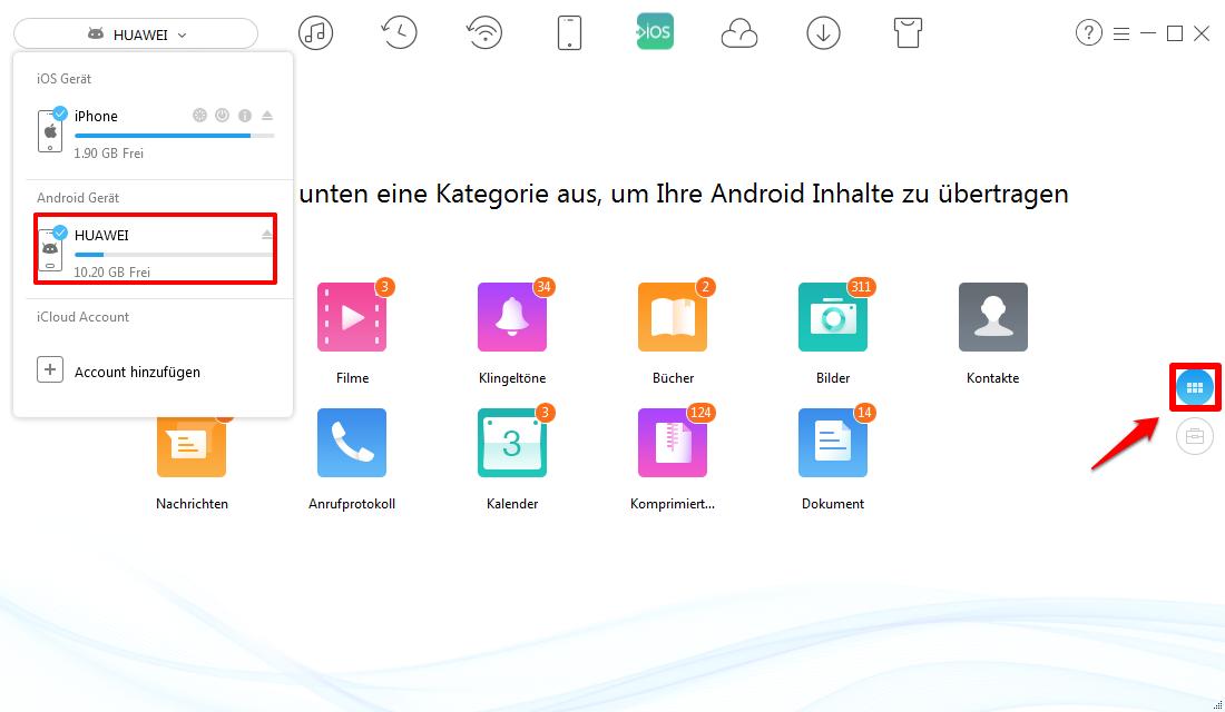 Kalender von Android auf iPhone – Schritt 1