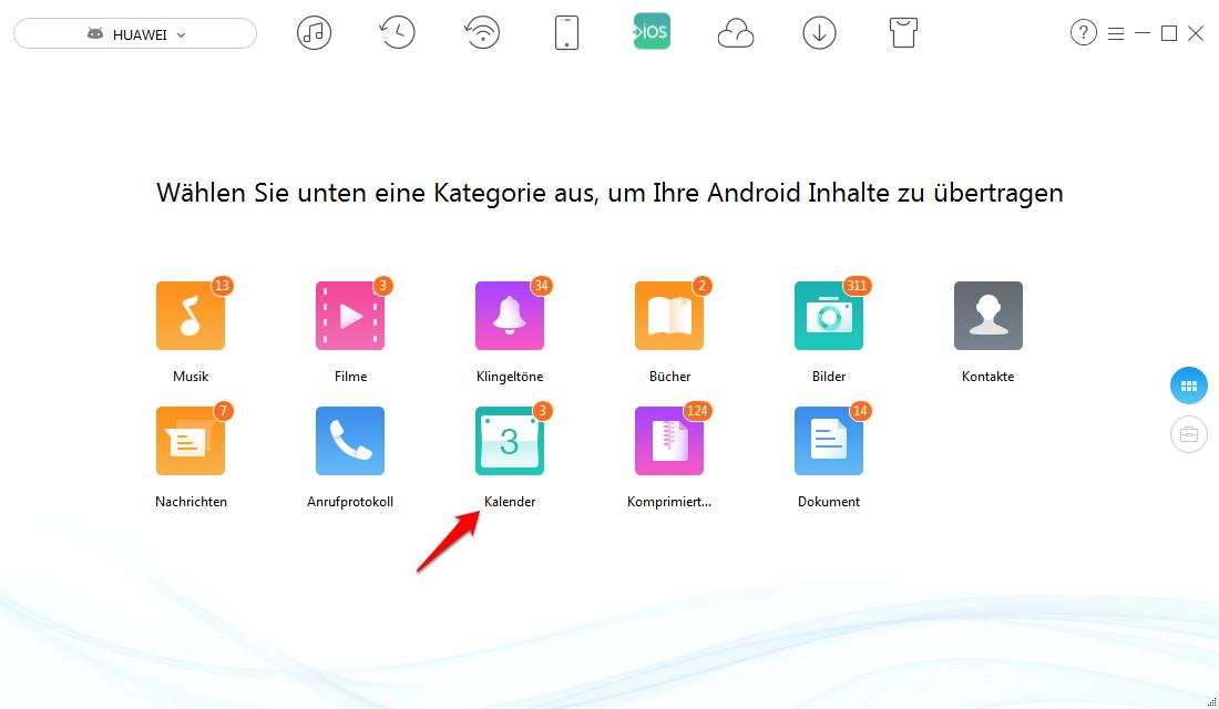 Kalender von Android auf iPhone übertragen – Schritt 2