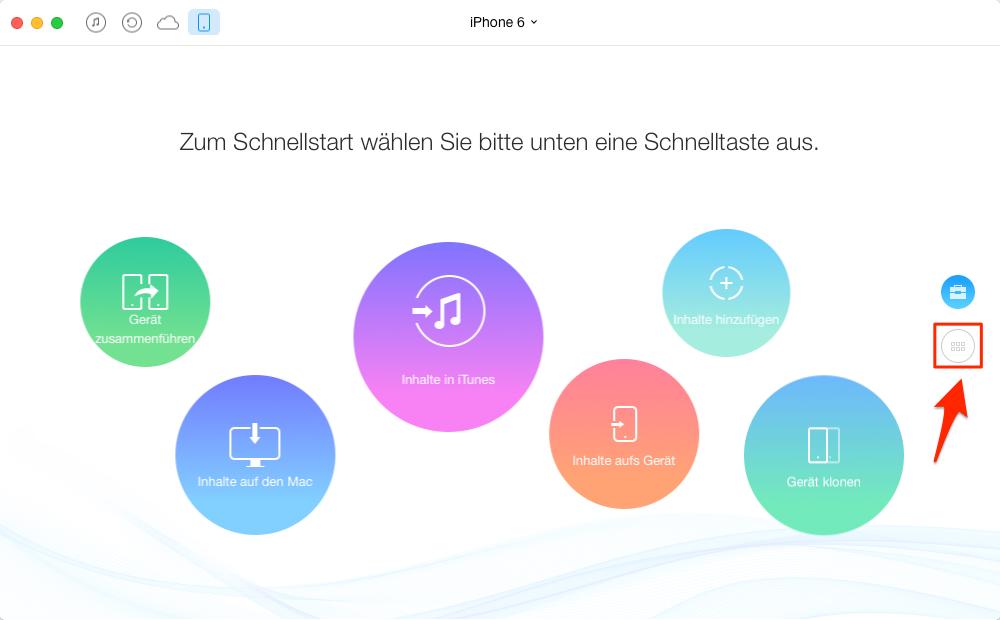 Klingeltöne vom iPhone auf Mac – Schritt 1
