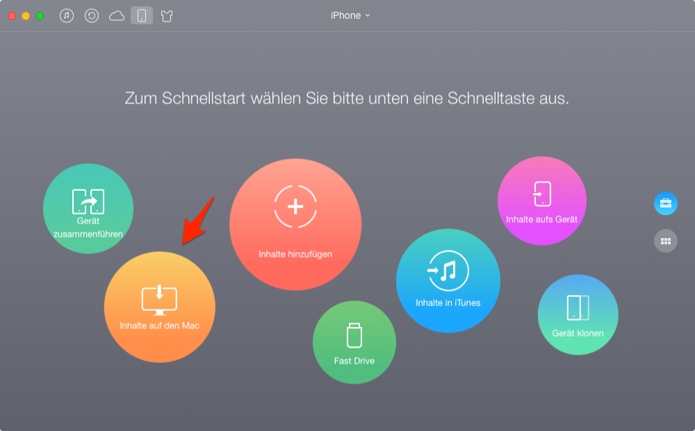Klingeltöne vom iPhone auf Mac, ohne iTunes – Schritt 1