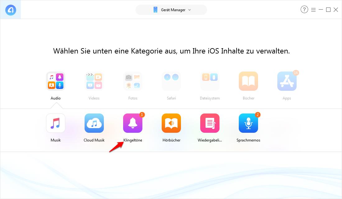 Klingelton auf iPhone 8 übertragen – Schritt 2