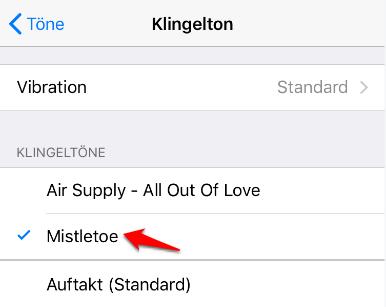 iPhone X/8 Klingelton überprüfen
