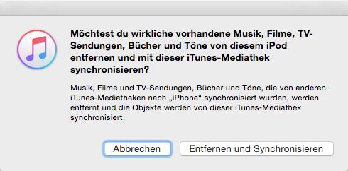iPhone X/8 Klingeltöne synchronisieren – Nachteile vom iTunes