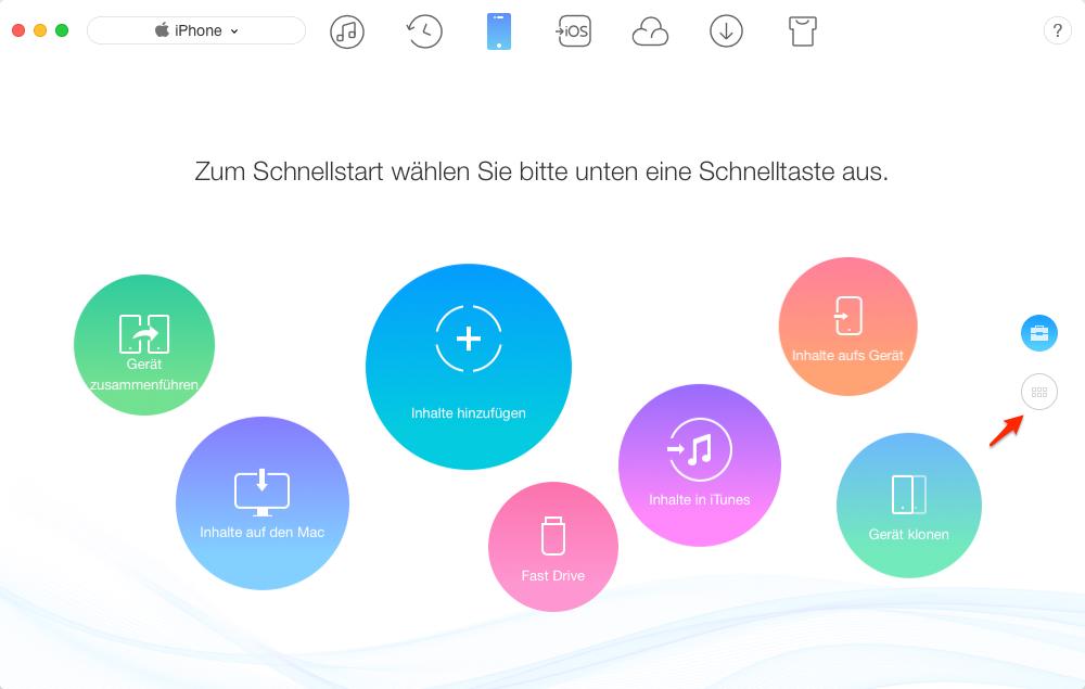Klingeltöne auf iPhone 7/8/X übertragen – Schritt 1