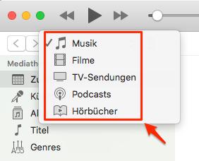 """iTunes 12. 7 hat """"Töne"""" gelöscht"""