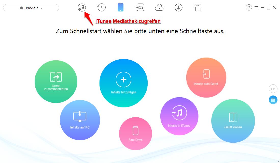 Klingelton von iTunes auf iPhone sicher übertragen - Schritt2