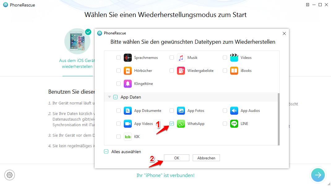 Kontakt aus WhatsApp entfernen – WhatsApp Nachrichten abrufen