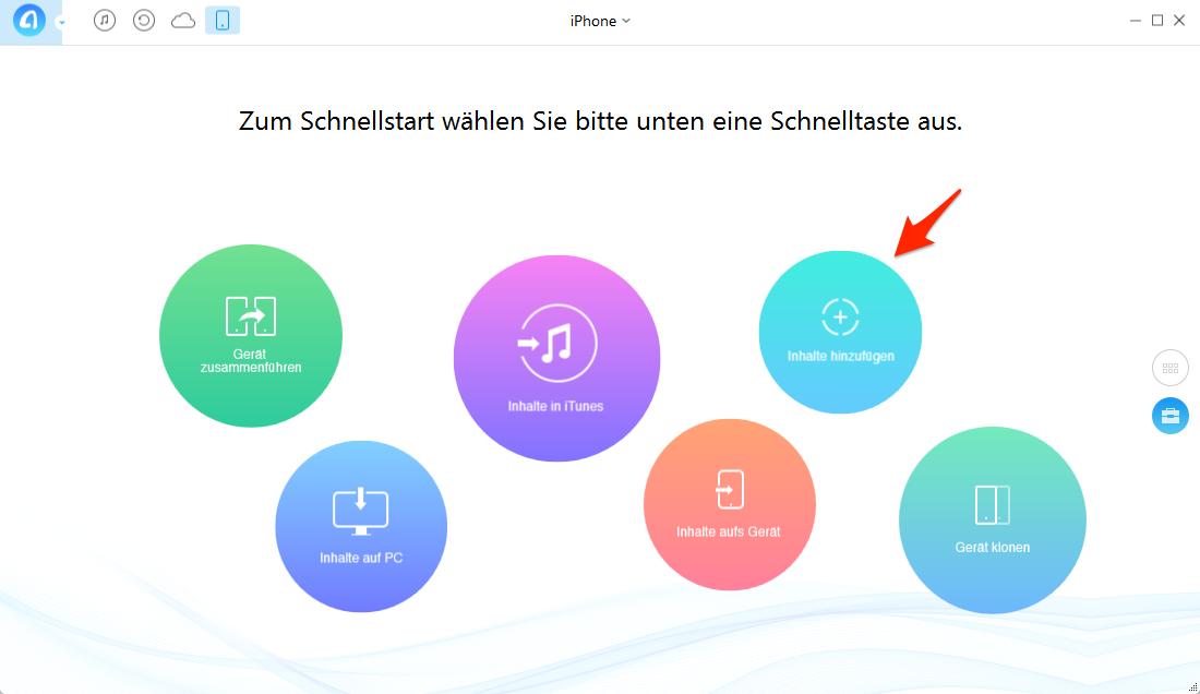 Kontakte vom PC auf iPhone 7, ohne iTunes – Schritt 2