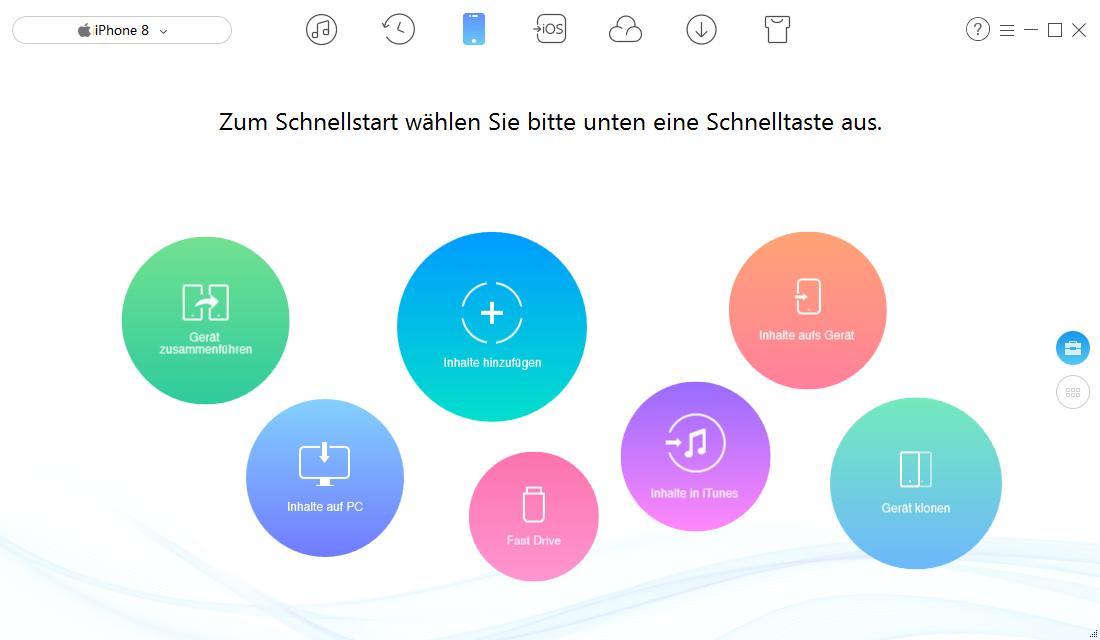 iPhone X/8/7 (Plus) Kontakte exportieren – Schritt 1