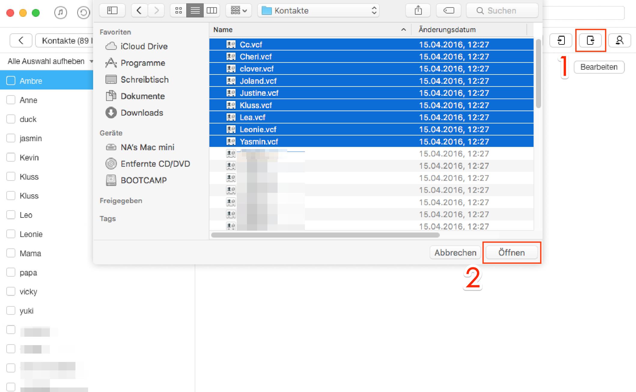 Selektiv! Kontakte von Mac auf iPhone übertragen – Schritt 2