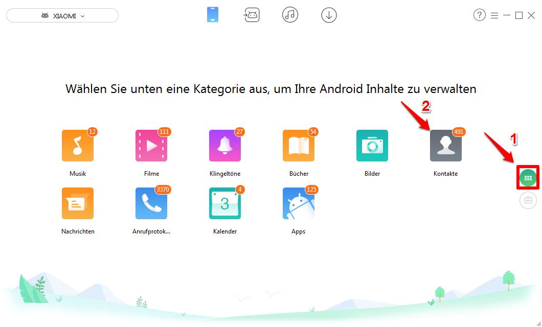 Kontakte vom PC auf Android übertragen - Schritt 1
