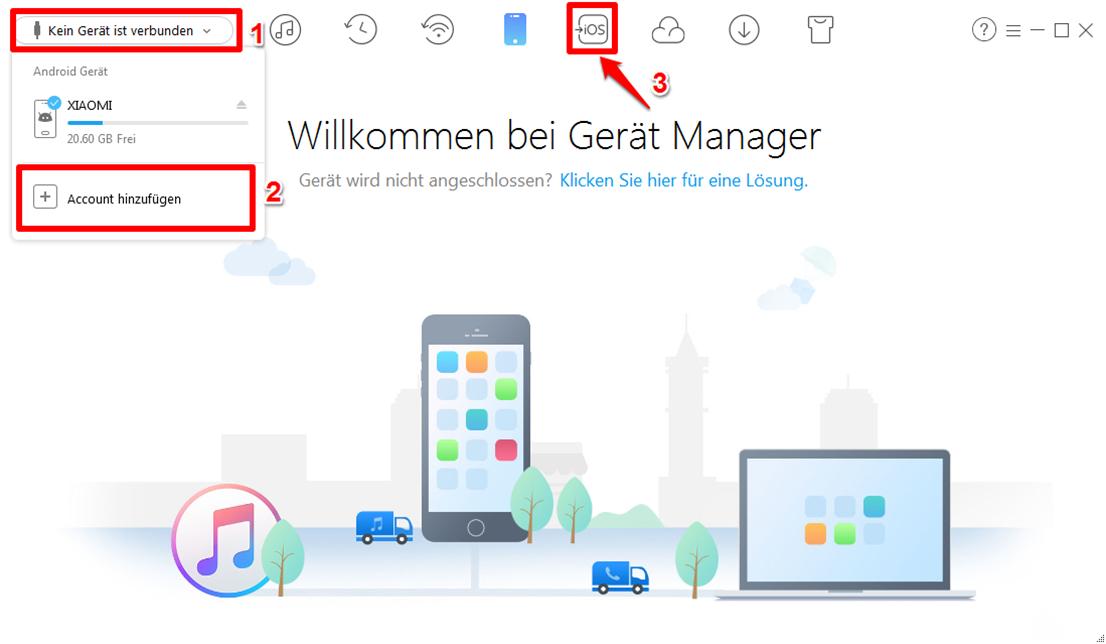 Android Kontakte auf iCloud übertragen – Schritt 2