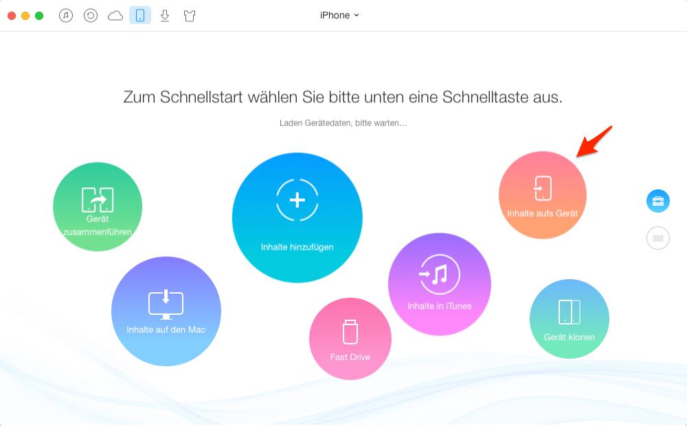 Kontakte vom Computer zu iOS-Gerät hinzufügen