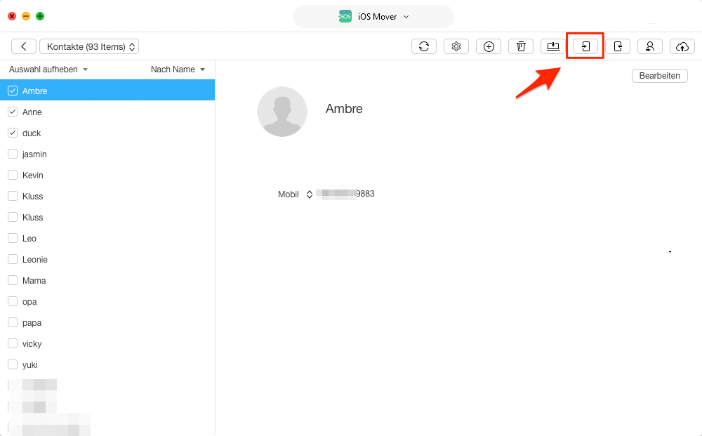 Kontakte von Windows Computer auf iPhone übertragen