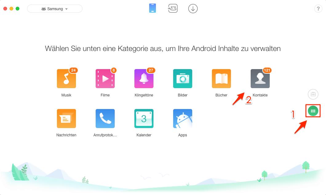 Android Kontakte übertragen auf PC – Schritt 1