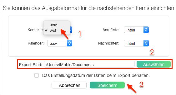 Android Kontakte übertragen auf PC - einstellen