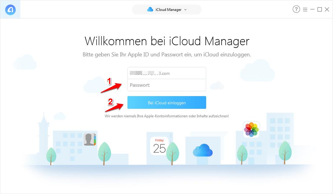 Kontakte von iCloud auf iPhone übertragen – Schritt 2