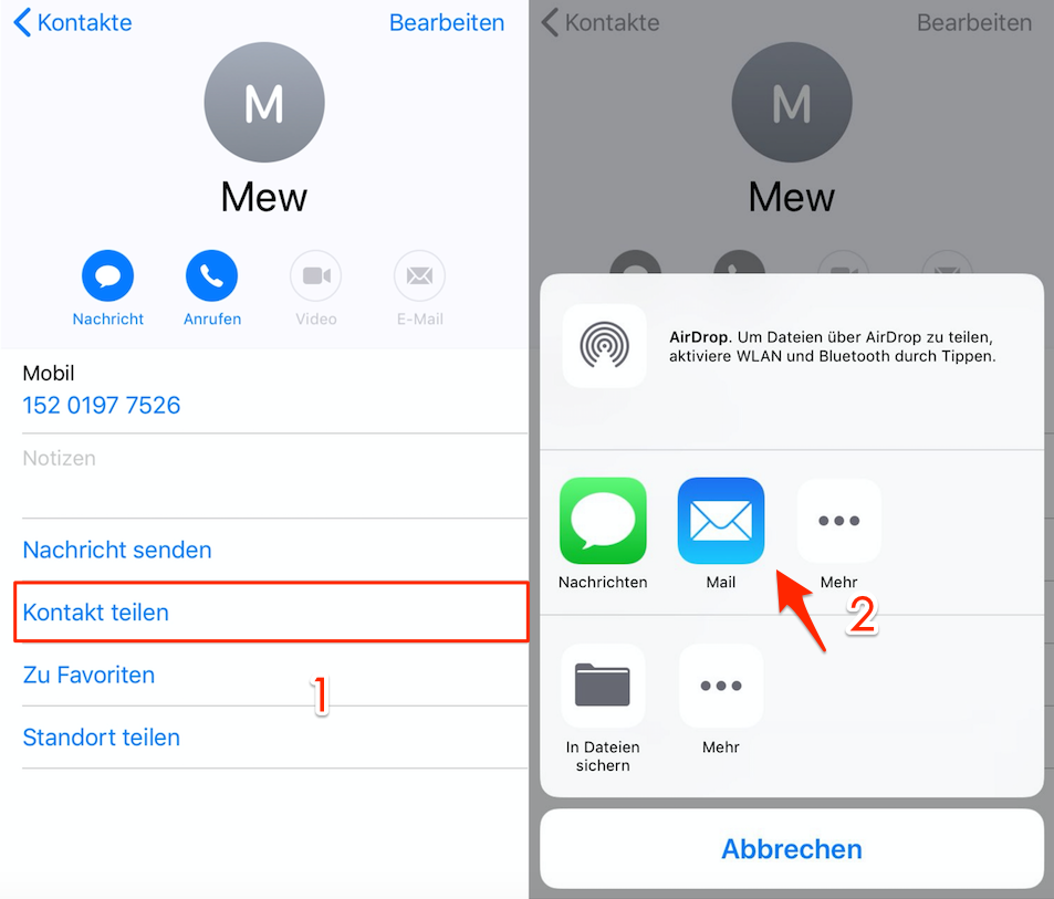 iphone kontakte werden beim schnellstart nicht übertragen