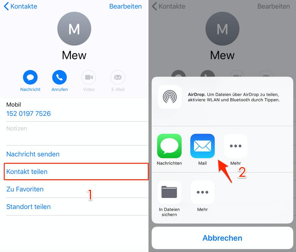 Kontakte Ubertragen Android Zu Iphone