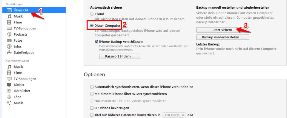 Kontakte auf neues iPhone X übertragen – Mit iTunes