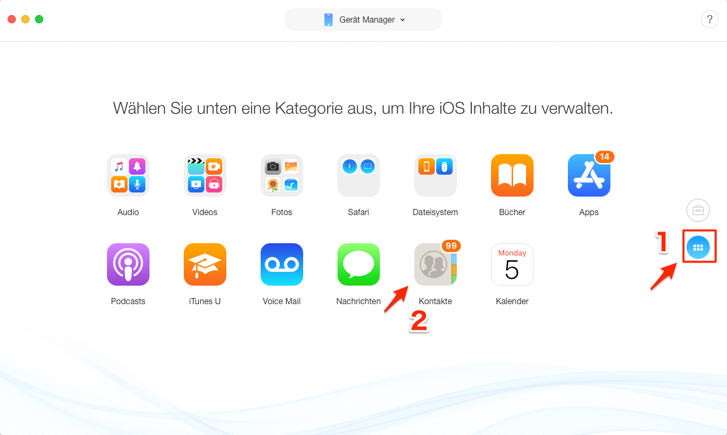 Kontakte von iPhone zu iPhone übertragen Bluetooth - Schritt 3
