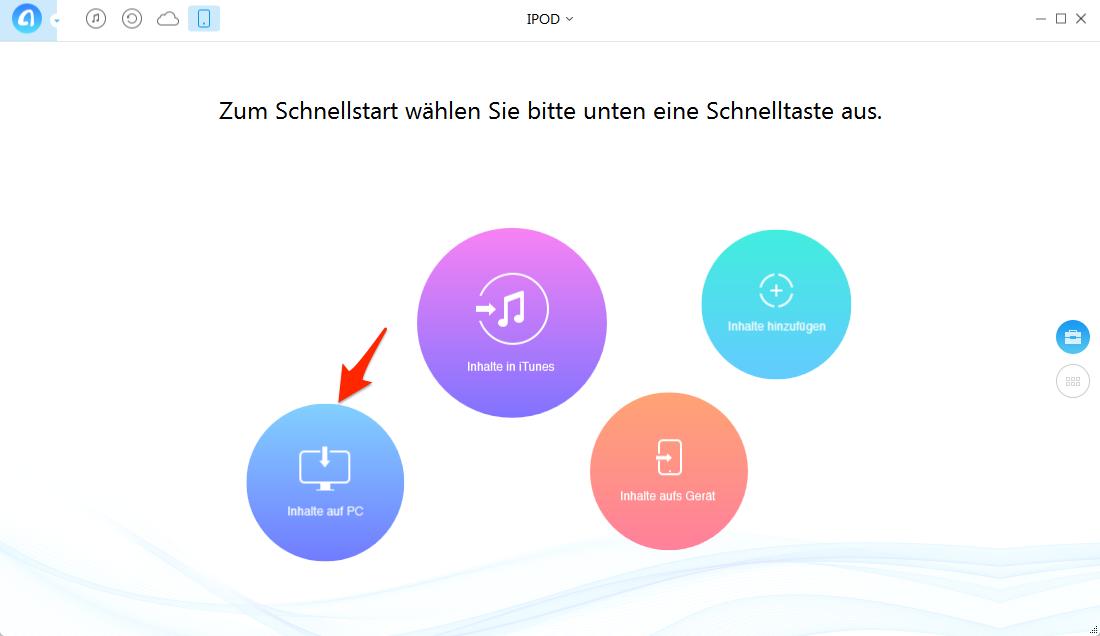 Musik vom iPod auf PC übertragen – Schritt 2