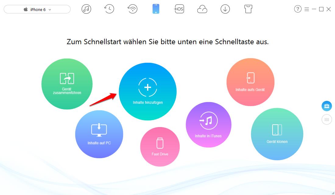 Über iTunes kann man Bilder vom Computer auf iPhone übertragen