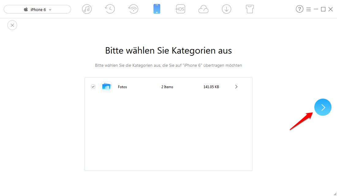 Bilder von Computer auf iPhone übertragen – Schritt 4