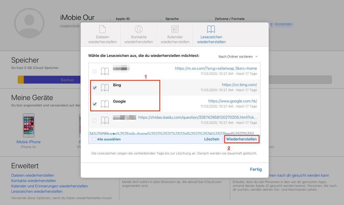 Drei Methoden So wiederherstellen Sie Safari Lesezeichen iPhone