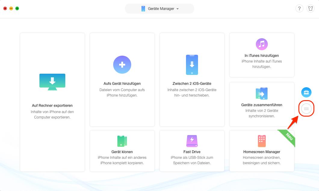 Safari Lesezeichen auf iPhone/iPad übertragen – Schritt 2