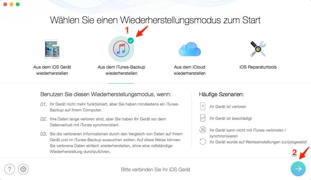 iPhone: Line Chat wiederherstellen – Schritt 1