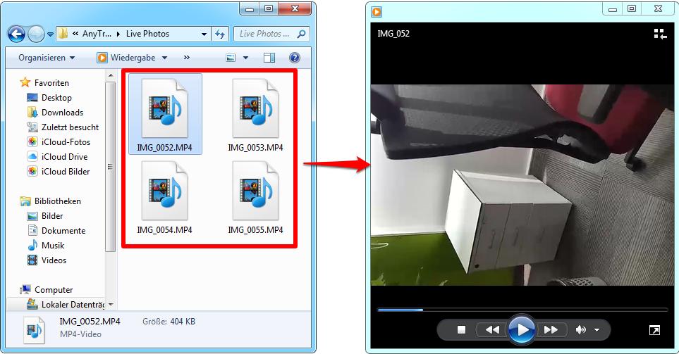 Live Photos in MP4/M4V mit 1-Klick umwandeln