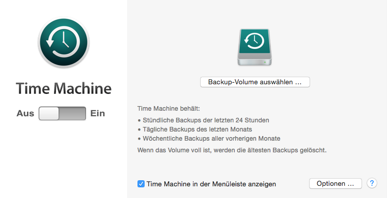 Datensicherung Mac mit Time Machine